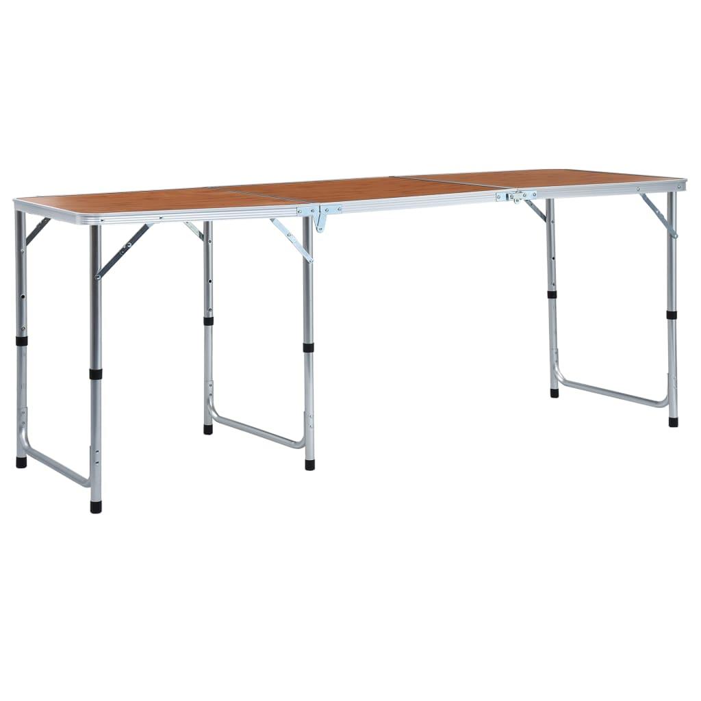 Składany stół kempingowy aluminiowy 180x60 cm