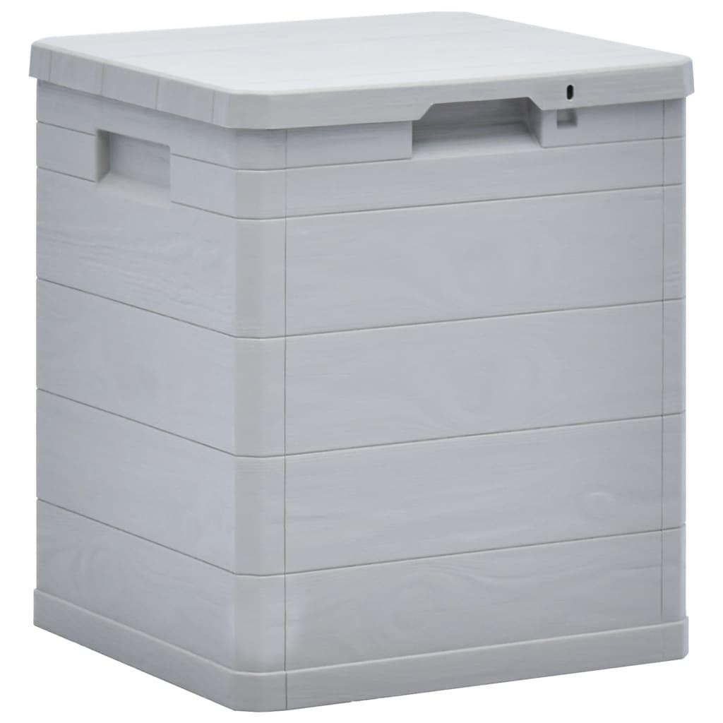 Boîte de rangement de jardin 90 L gris clair