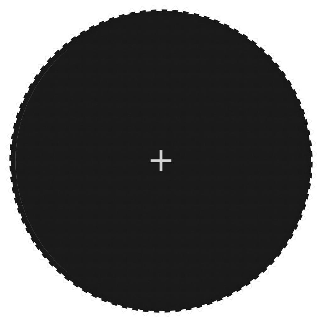 Ugrószőnyeg szövet, fekete 15 láb / 4,57 m-es kerek trambulinhoz