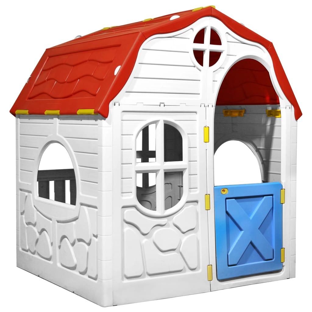Maisonnette pliable pour enfants avec porte et fenêtres fonctionnelles