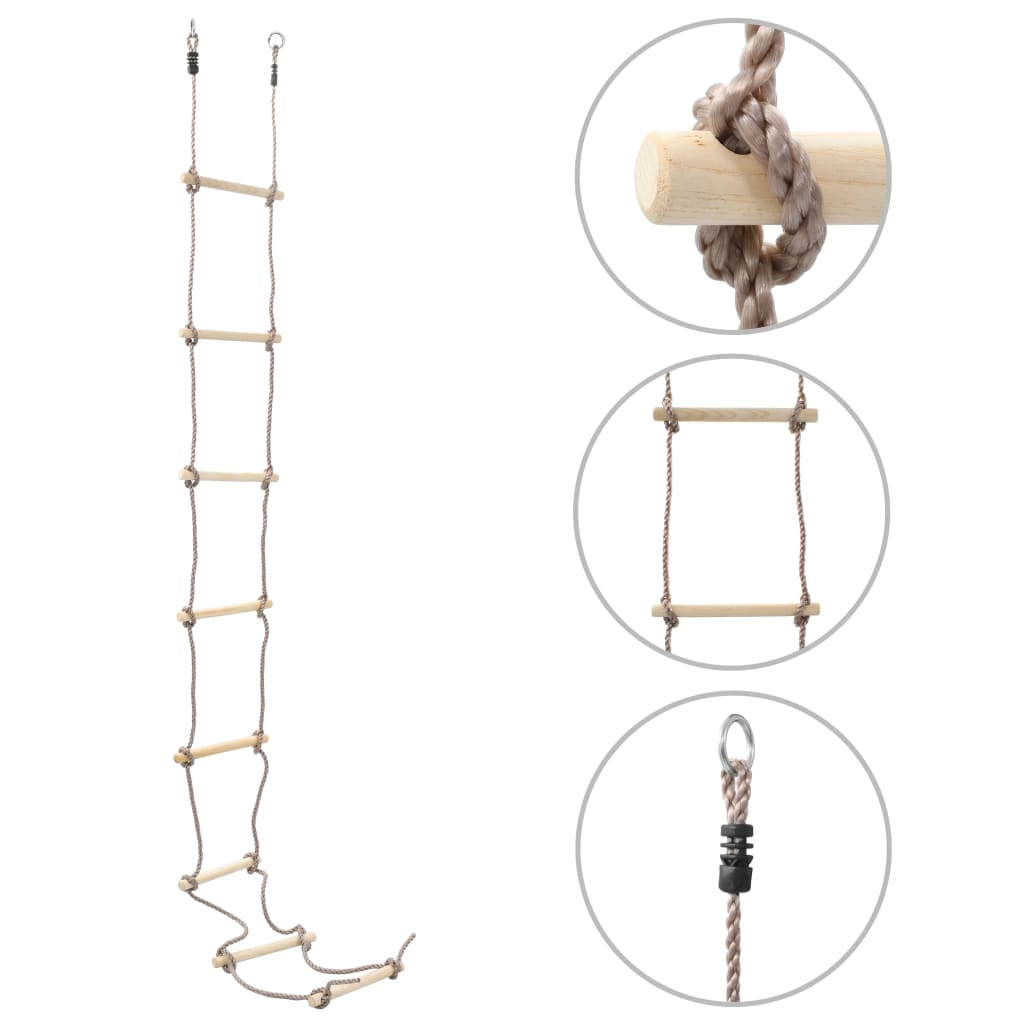 Παιδική Σκάλα με σχοινί 290 cm Ξύλο