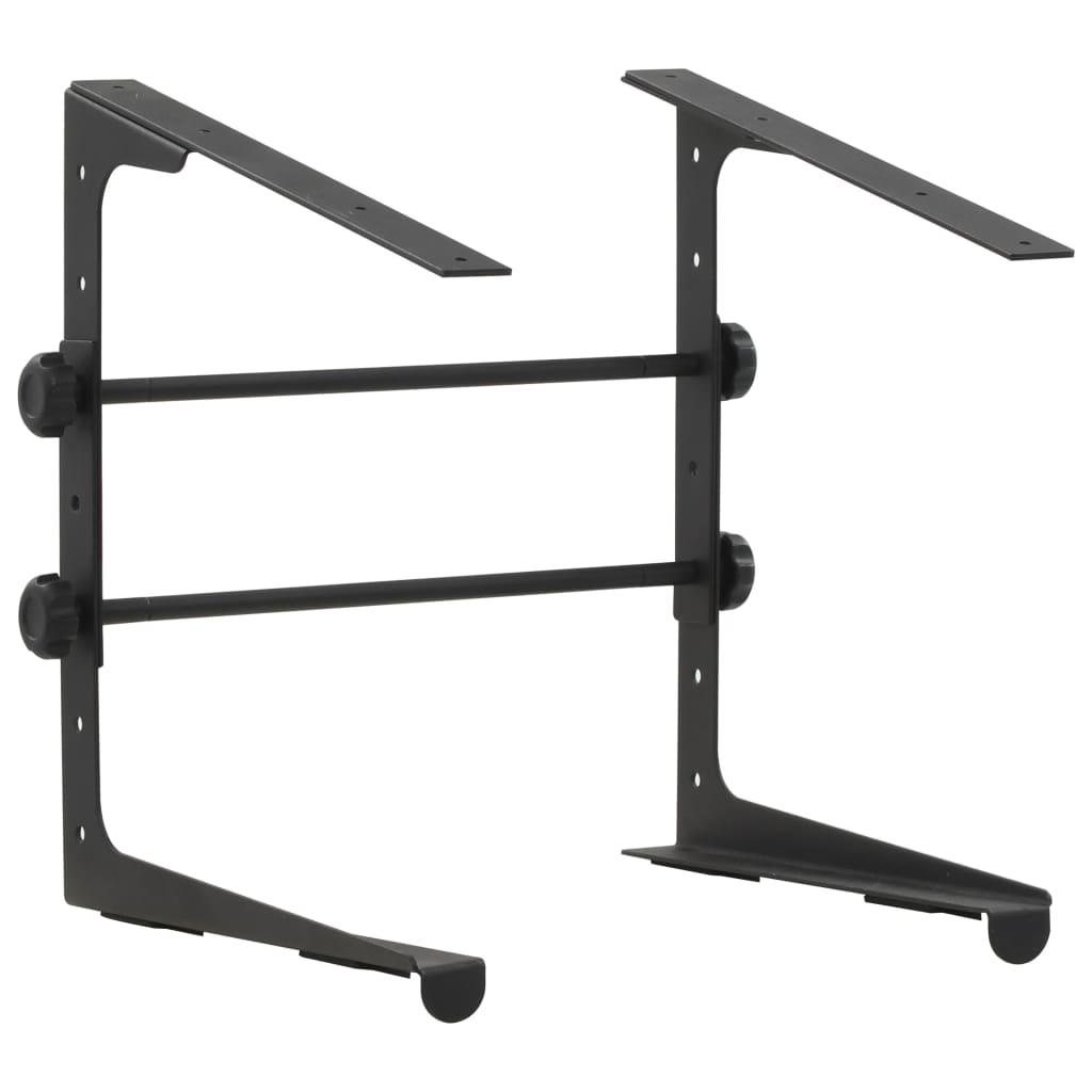 Подставка для ноутбука Черная Сталь 30.5x28x (24.5-37.5) см