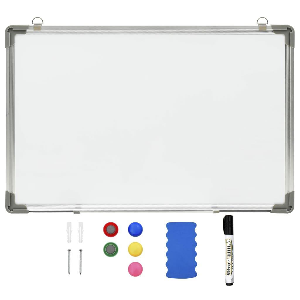 Tableau blanc magnétique effaçable à sec Blanc 50x35 cm Acier