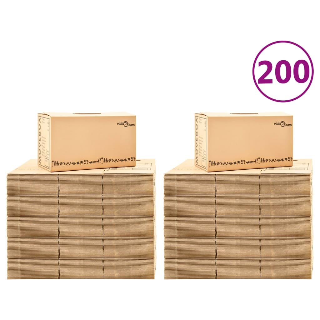 Κινούμενα κουτιά Χαρτοκιβώτιο XXL 200 τεμ 60x33x34 εκ