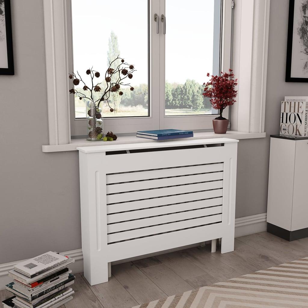 Κάλυμμα ψυγείου Λευκό 112x19x81.5 cm MDF