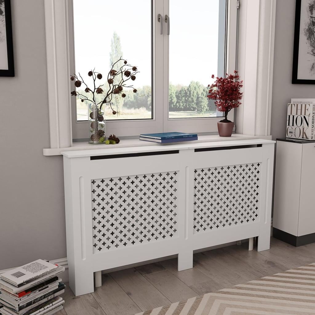 Κάλυμμα ψυγείου Λευκό 152x19x81.5 cm MDF