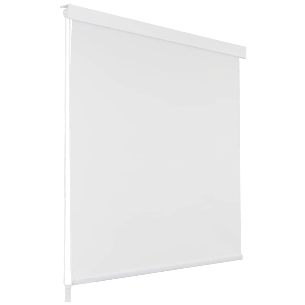 Роликовая шторка для душа 100x240 см Белая