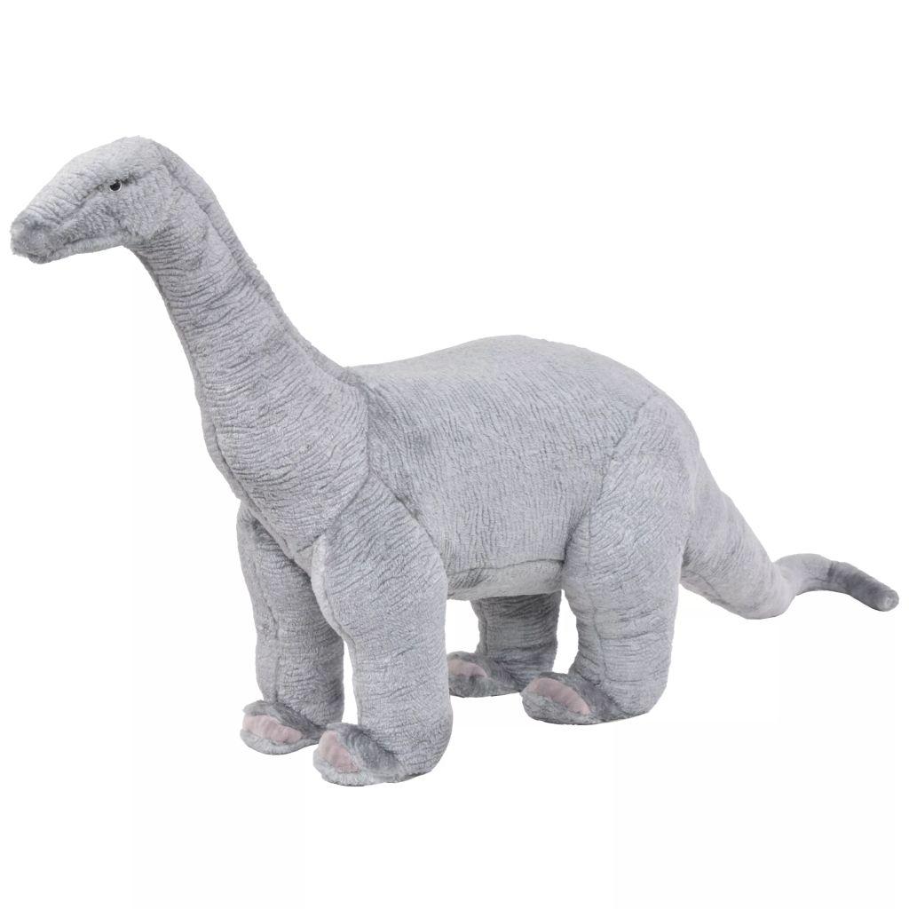 Peluche Debout Brachiosaure Dinosaure Gris XXL