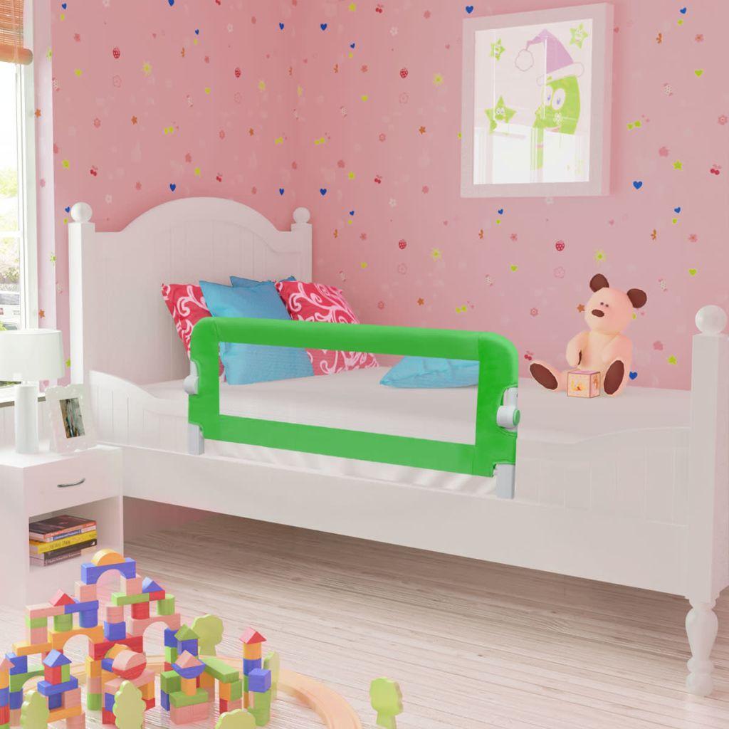 Barrière de lit de sécurité enfant 102 x 42 cm Vert