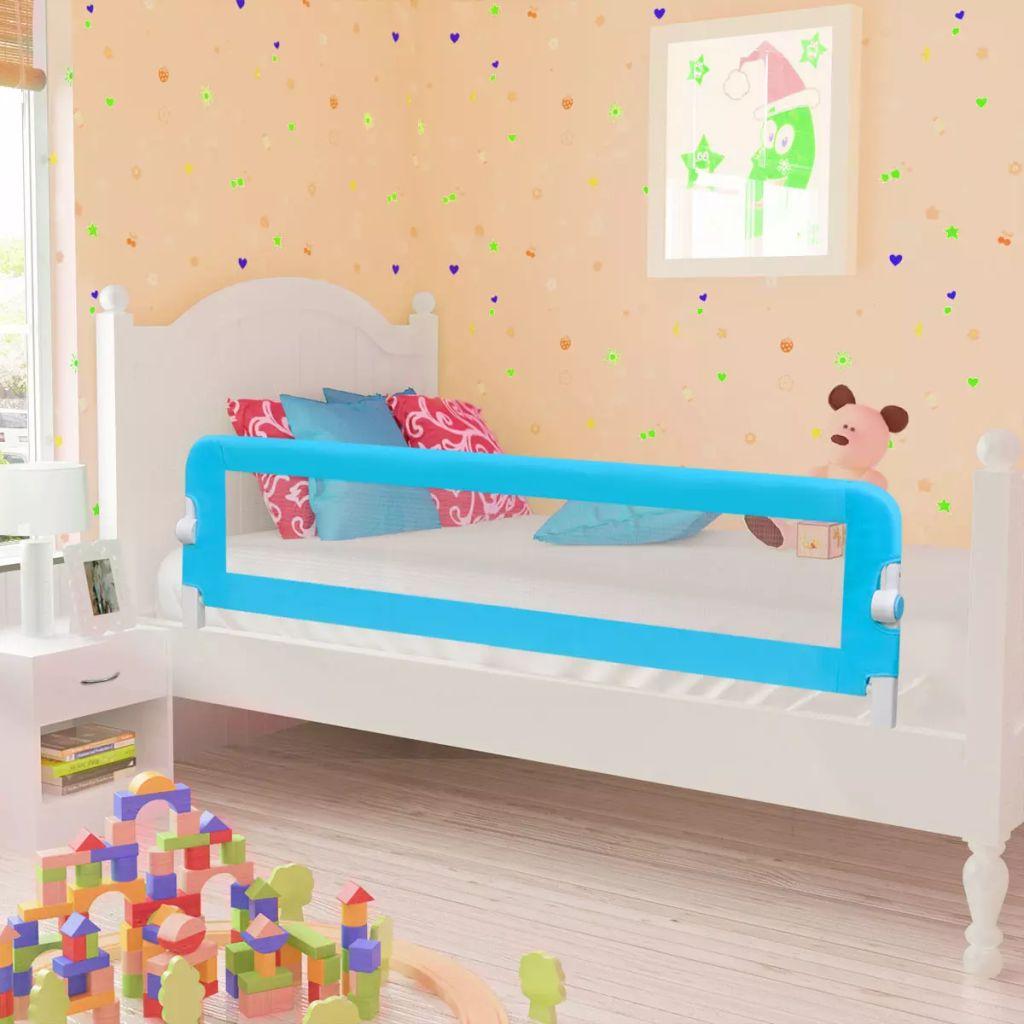 Ράγα κρεβατιών ασφαλείας για μικρά παιδιά 150 x 42 cm Μπλε