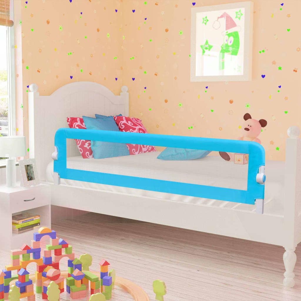 Ράγα κρεβατιών ασφαλείας για μικρά παιδιά 2 τεμ Μπλε 150x42 εκ