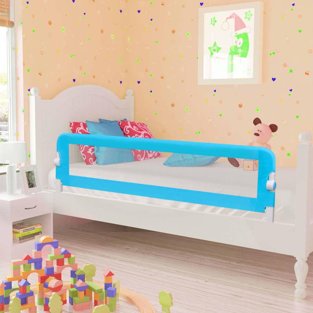 Παιδικό ράφι ασφαλείας κρεβατιού μπλε 120x42 cm πολυεστέρας