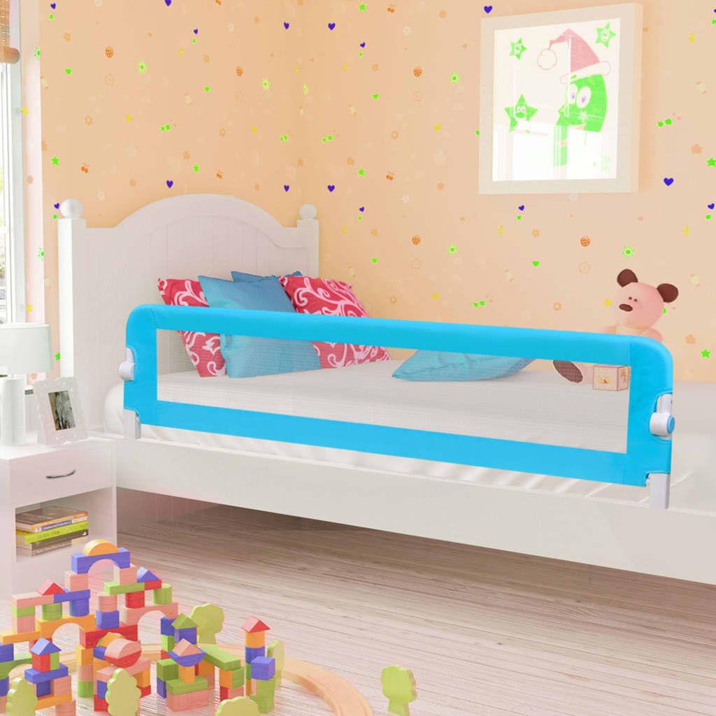 Παιδικό ράφι ασφαλείας κρεβατιού μπλε 180x42 cm πολυεστέρας
