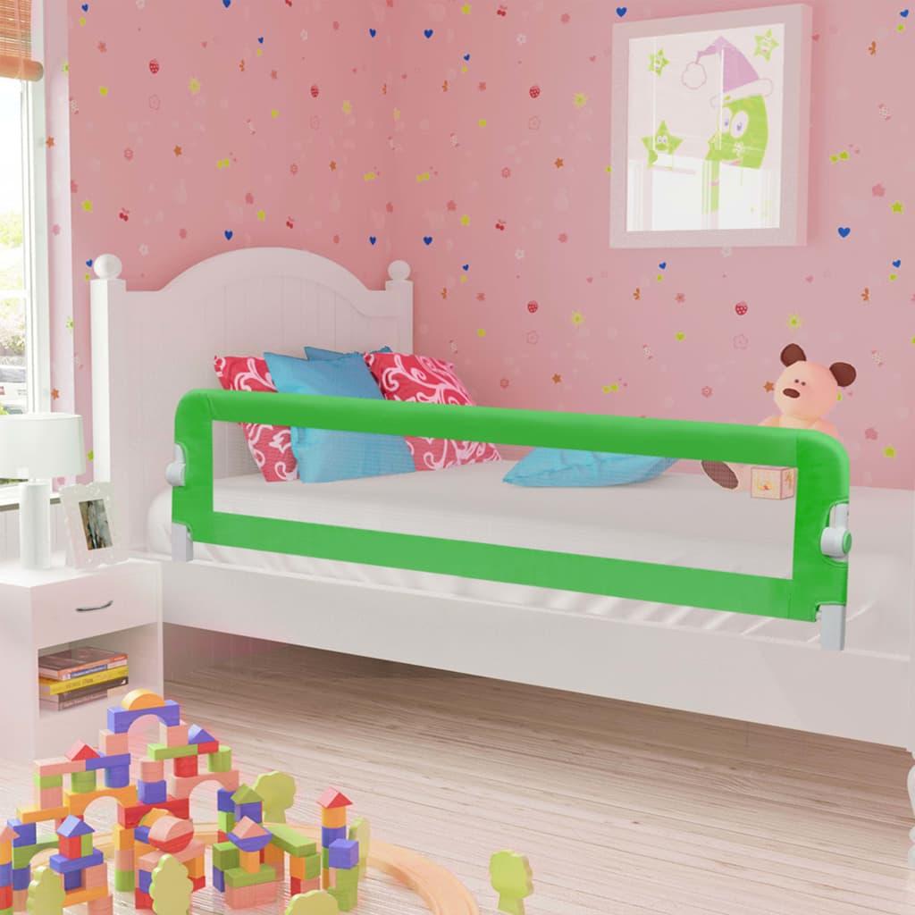 Ράγα κρεβατιών ασφαλείας για μικρά παιδιά Πράσινο 180x42 cm Πολυεστέρας