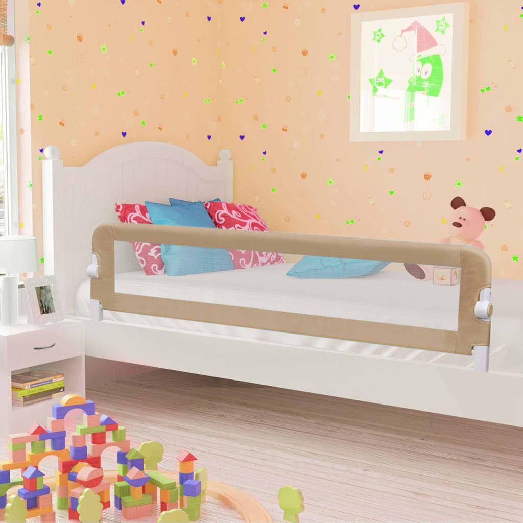 Ράγα κρεβατιών ασφαλείας για μικρά παιδιά Taupe 180x42 cm Πολυεστέρας