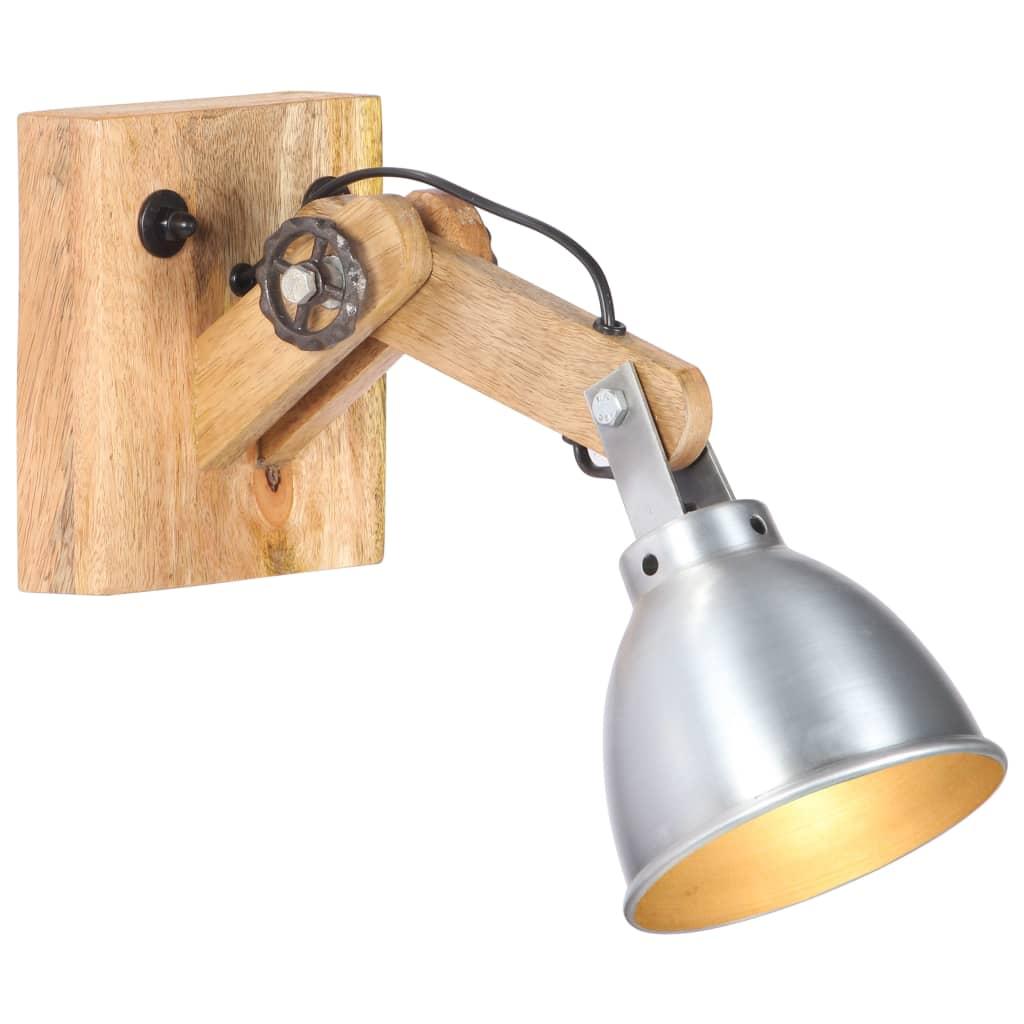 Настенный светильник E27 Silver Solid Mango Wood and Iron