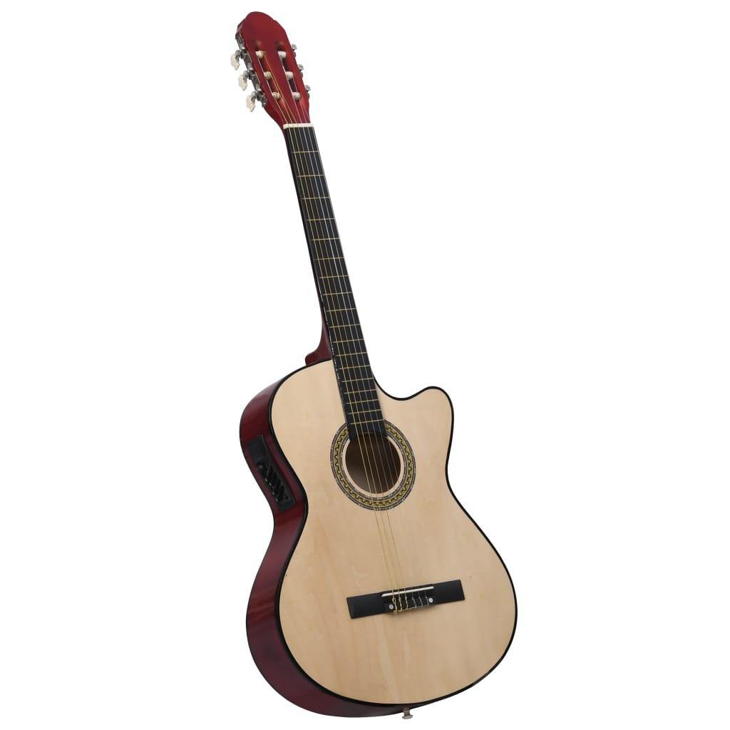 Guitare Western Acoustic Cutaway avec égaliseur et 6 cordes