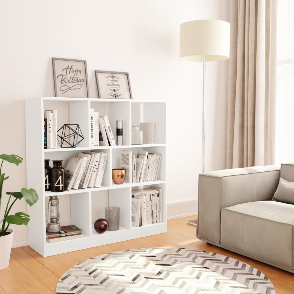 Armoire à livres Blanc 97.5x29.5x100 cm Aggloméré