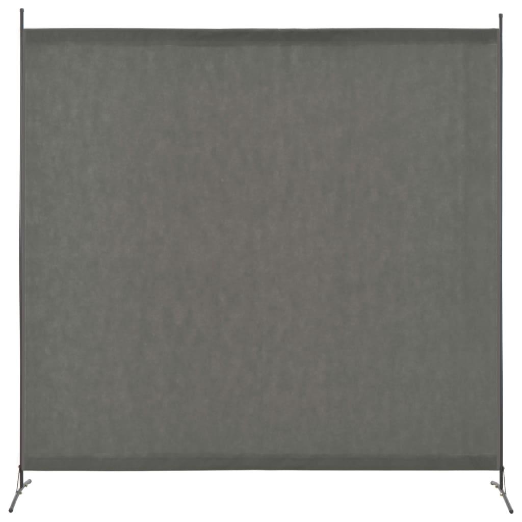 Séparateur d'espace 1 panneau anthracite 175x180 cm