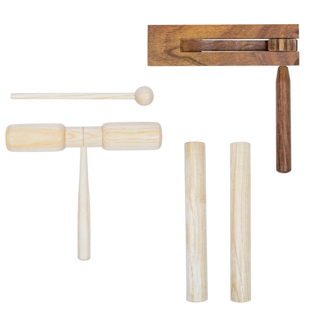 Set di 3 percussioni in legno