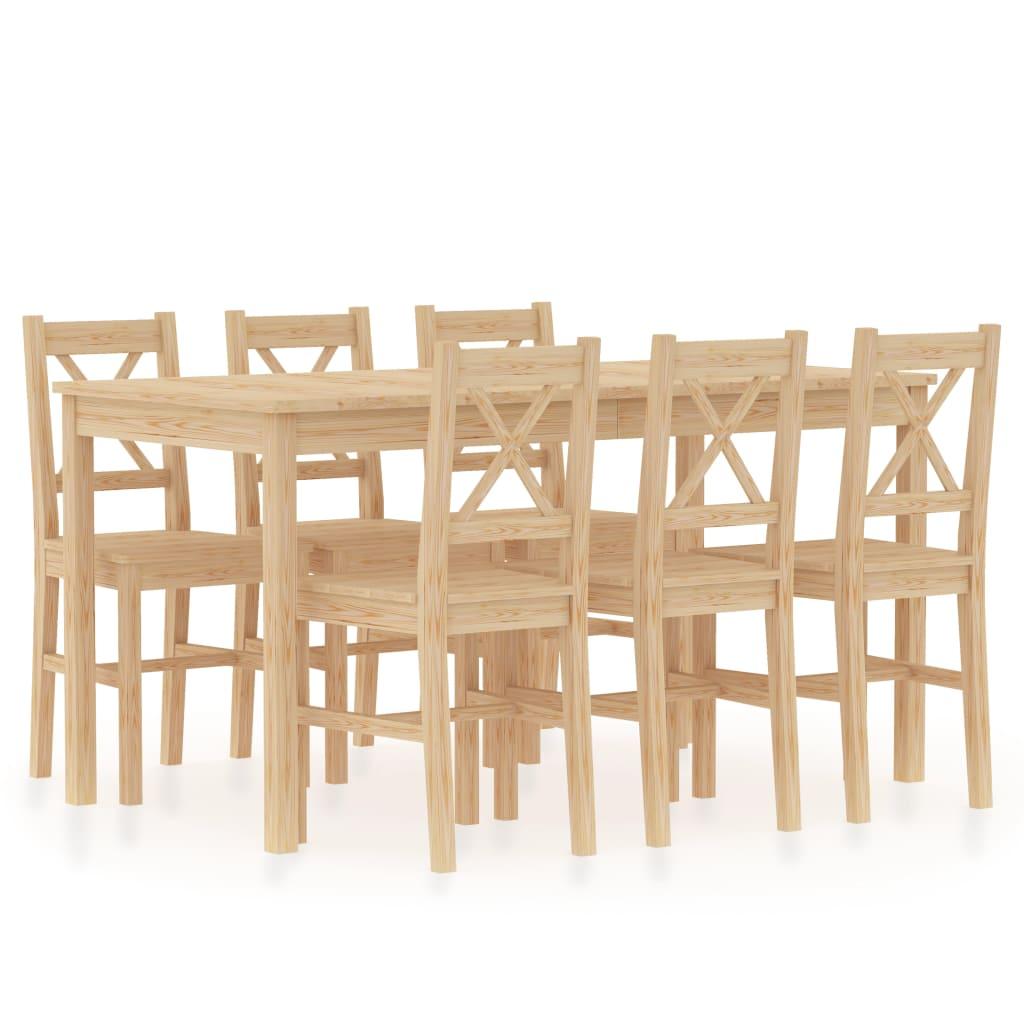 Ensemble de salle à manger 7 pièces en pin