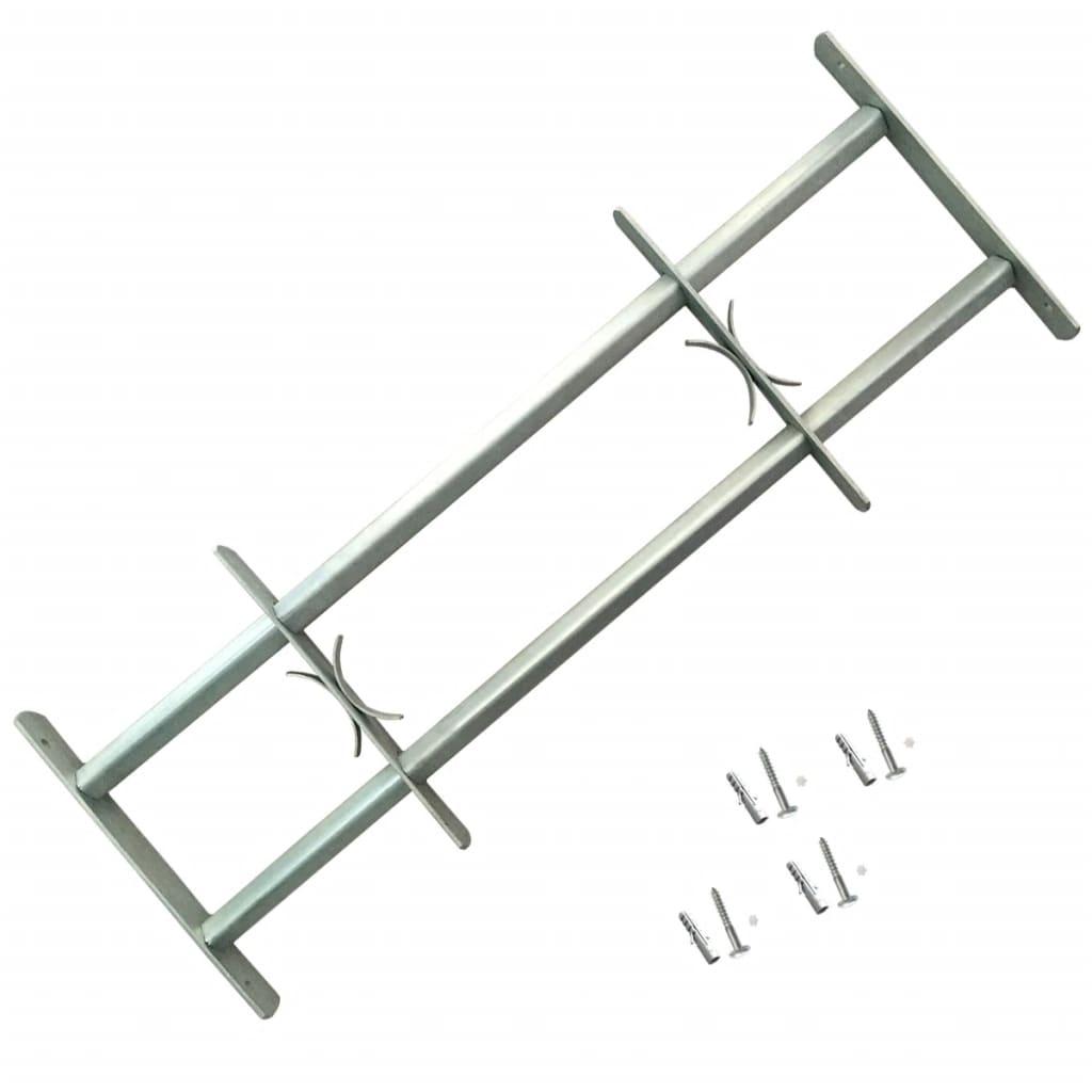 Grille de sécurité ajustable pour fenêtres avec 2 barres transversales 500-650 mm
