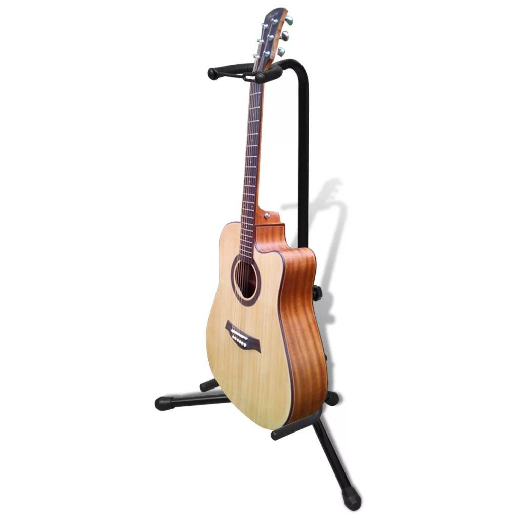 Support de guitare simple réglable pliable