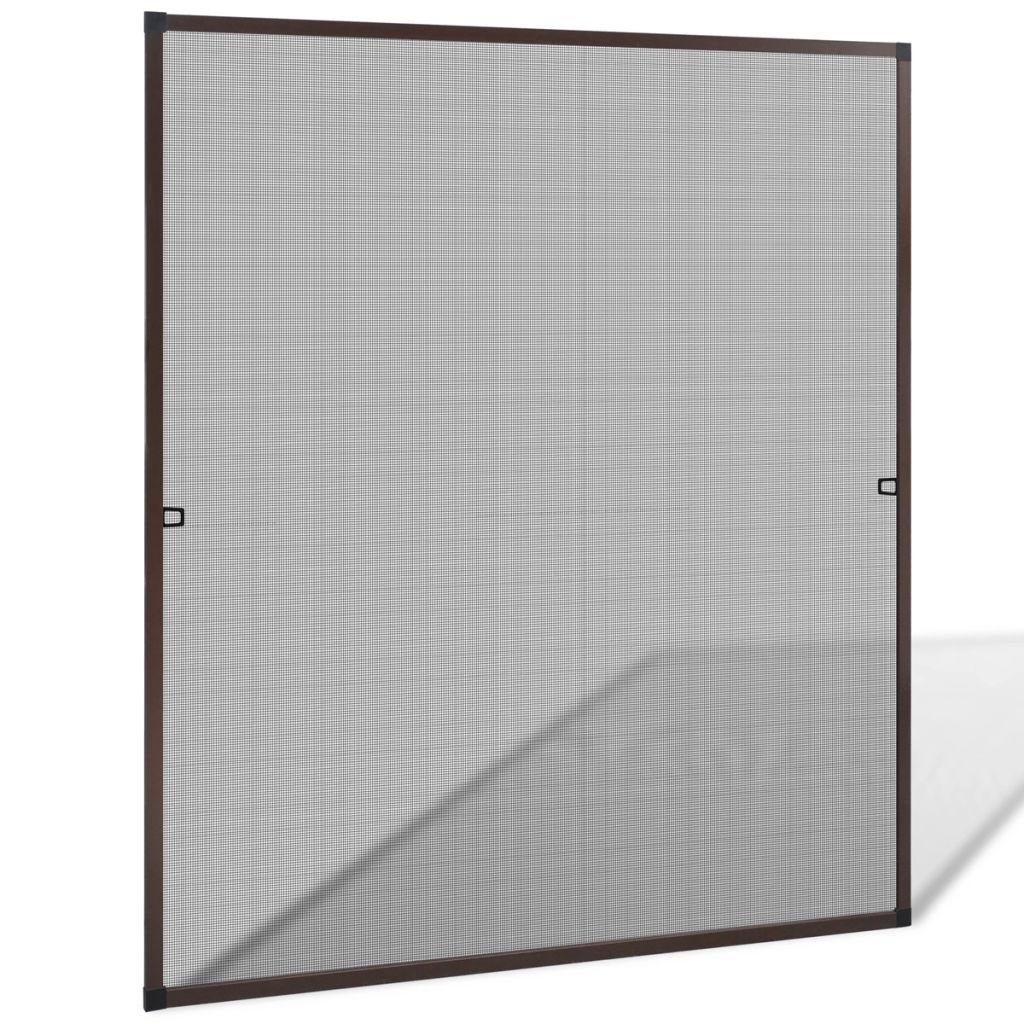 Windows用の茶色の昆虫スクリーン130x 150 cm