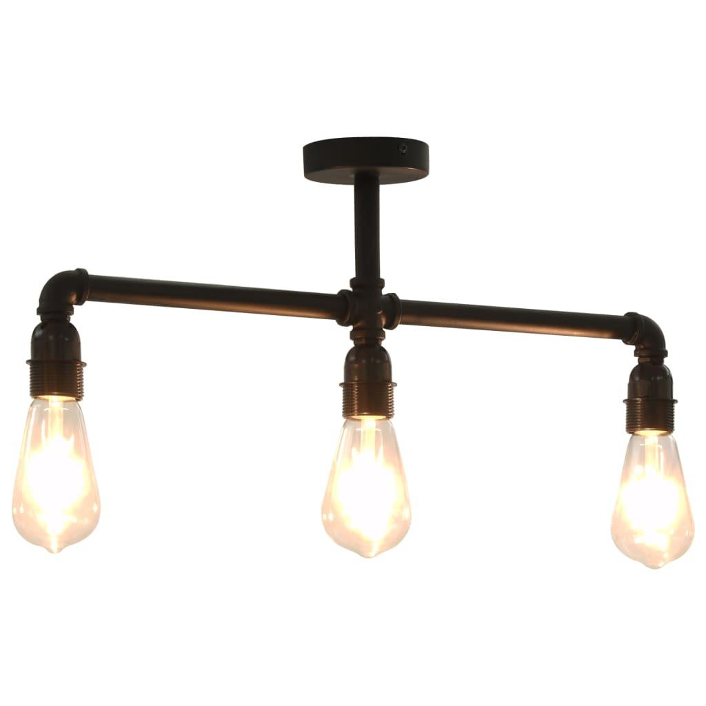 Потолочный светильник, черный, 3 лампы E27
