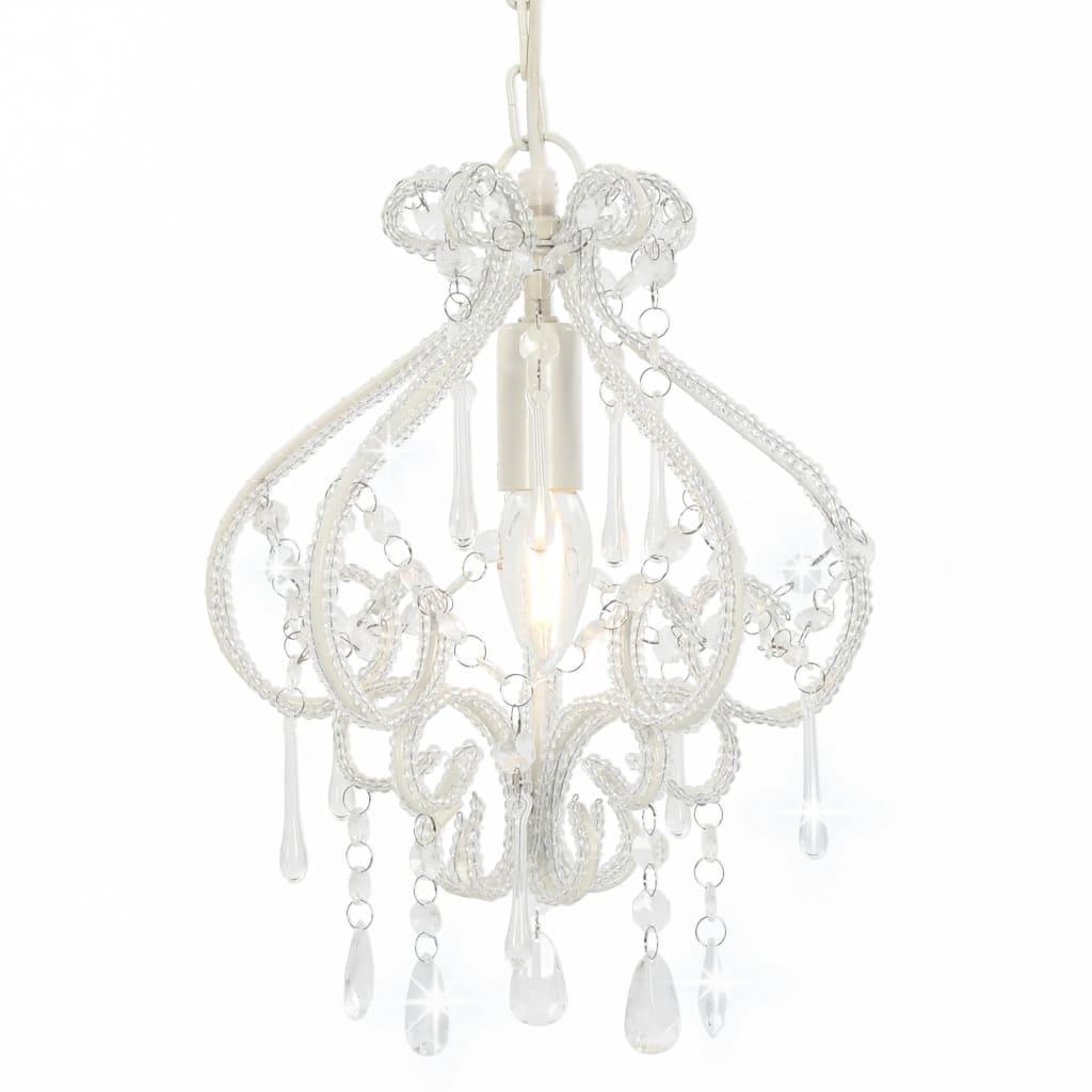 Потолочный светильник с бусинами белый круглый E14