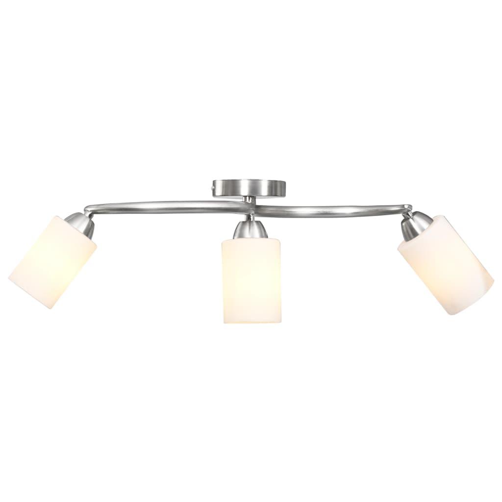 Потолочный светильник с керамическими плафонами на 3 ламп E14 White Cone