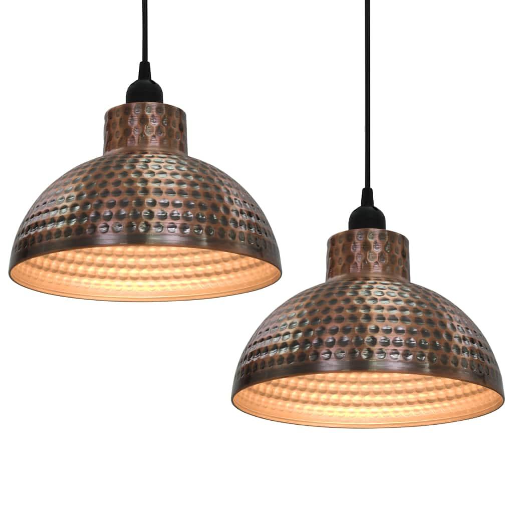 Потолочные светильники 2 шт. Полусферические медного цвета