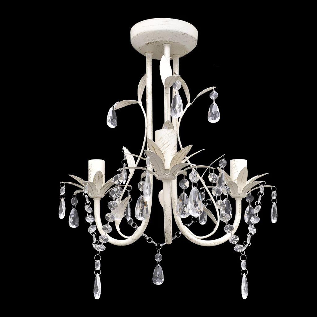 Хрустальный подвесной потолочный светильник Люстра Elegant White