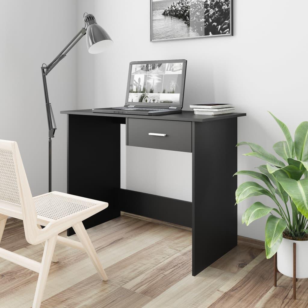 Επιτραπέζιο Μαύρο 100x50x76 cm Μοριοσανίδα