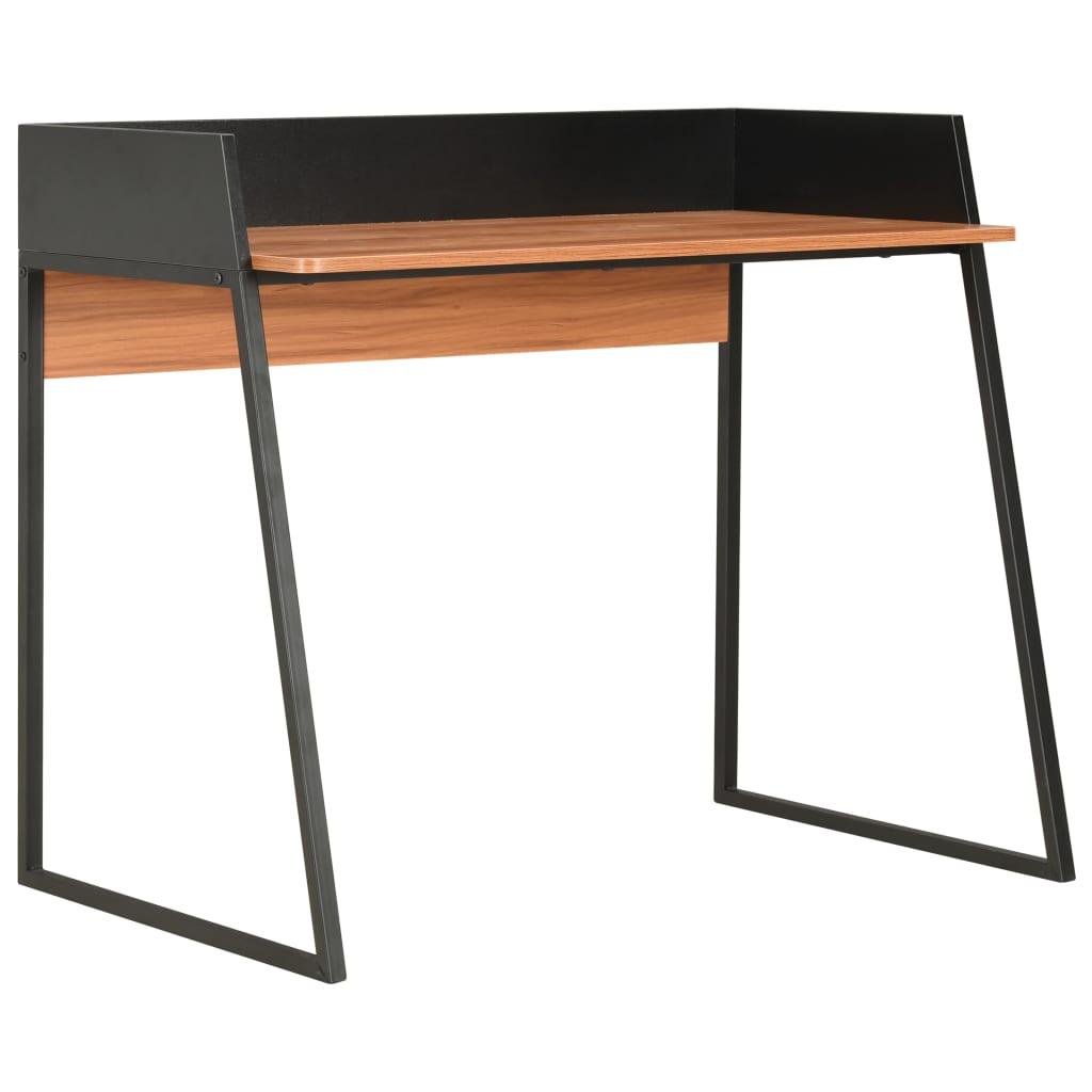 Bureau Noir et Marron 90x60x88 cm