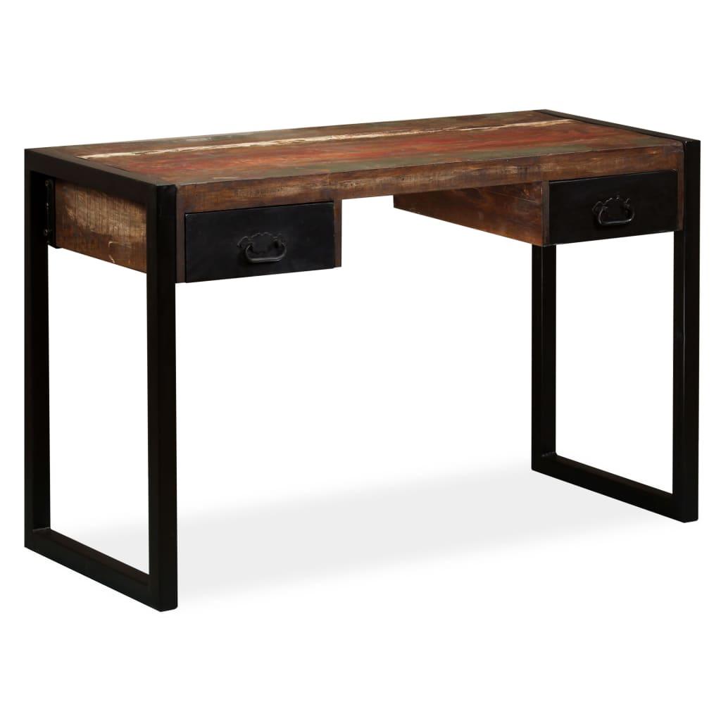 Επιτραπέζιο με 2 συρτάρια Στερεό ξύλο 120x50x76 cm