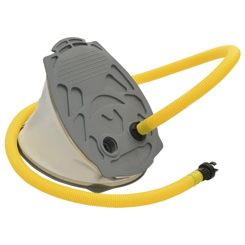 Ножной насос 21x29.5 см ПП и ПЭ Серый и желтый