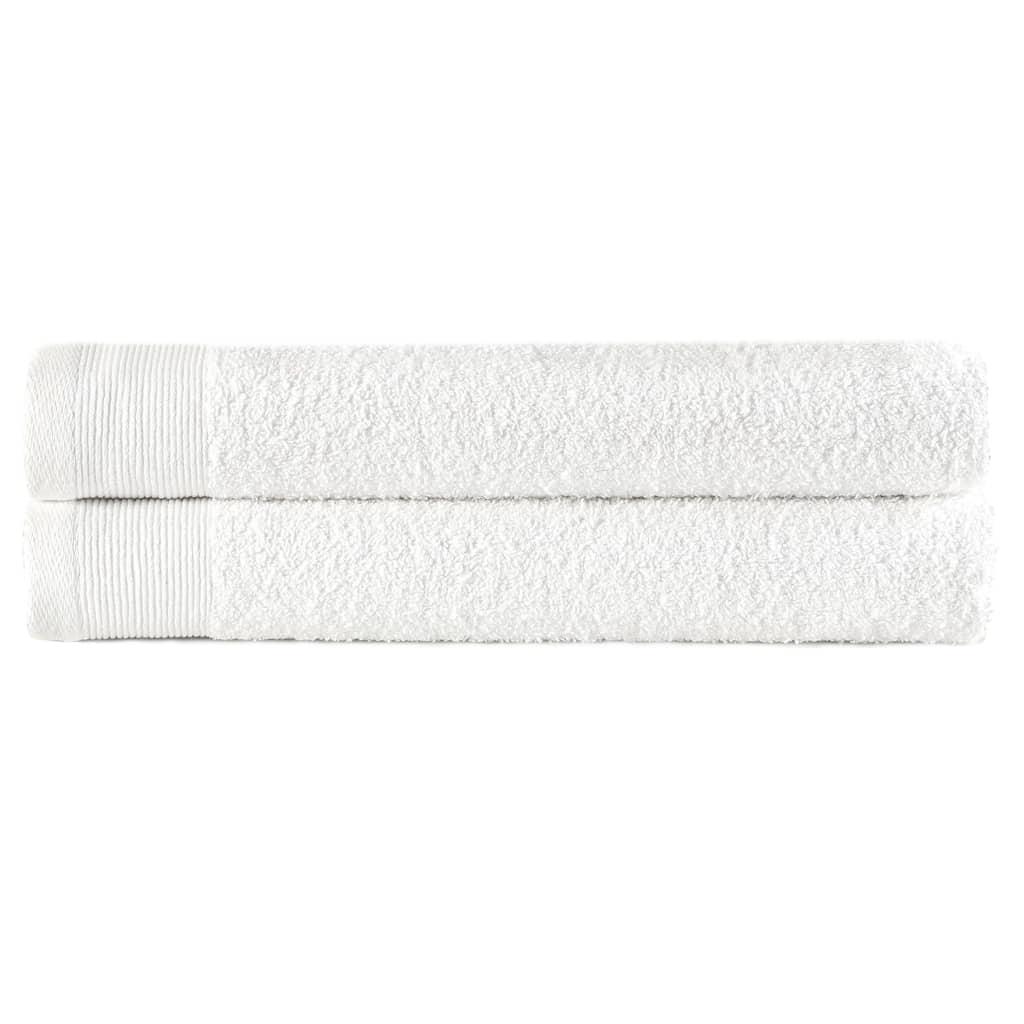 Полотенца для рук 2 шт Хлопок 450 г / м50 100xXNUMX см Белый