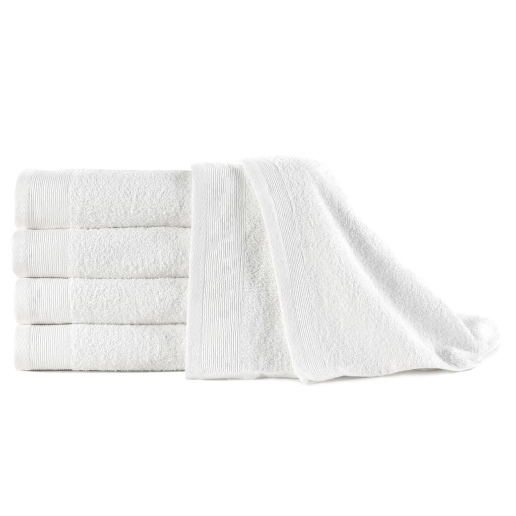 Полотенца для рук 5 шт Хлопок 450 г / м50 100xXNUMX см Белый