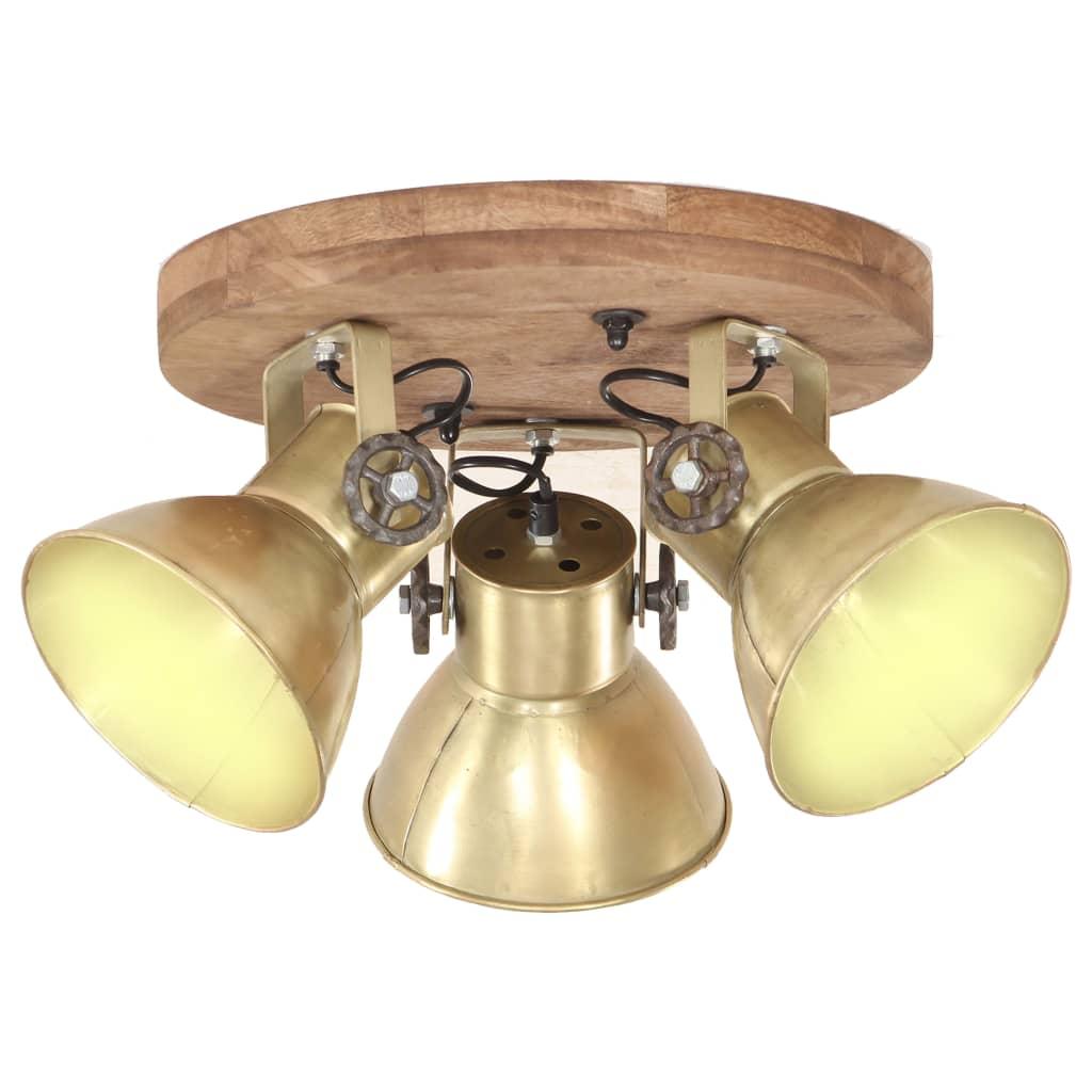 Промышленный потолочный светильник 25 Вт латунь 42x27см E27