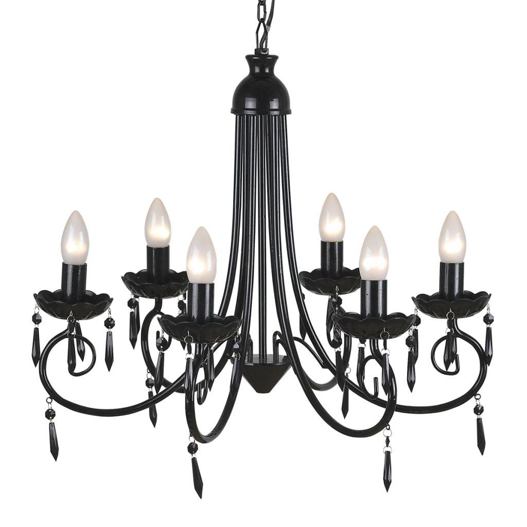 Подвесной потолочный светильник Elegant Chandelier Black 6 лампочек