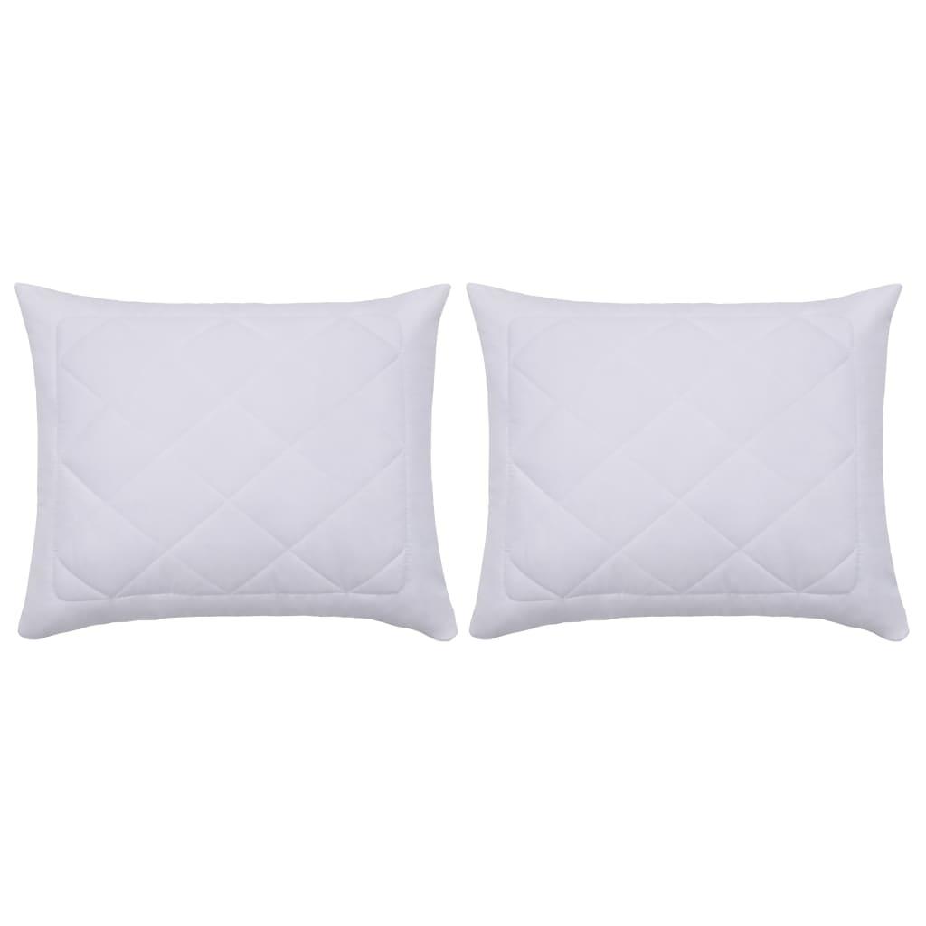 Protège-oreillers 2 pièces 60x70 cm Blanc