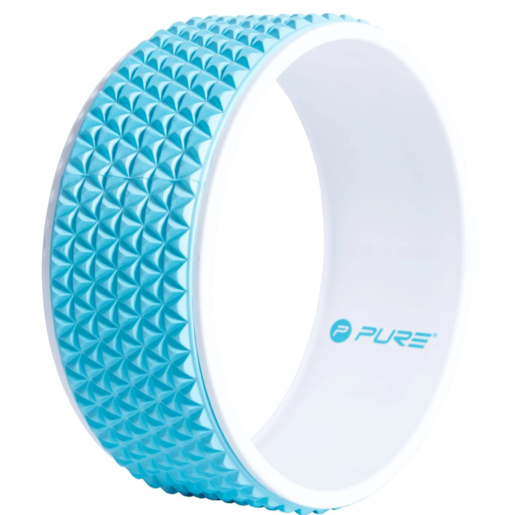 Pure2Improve Yoga Wheel 34 см, синий и белый