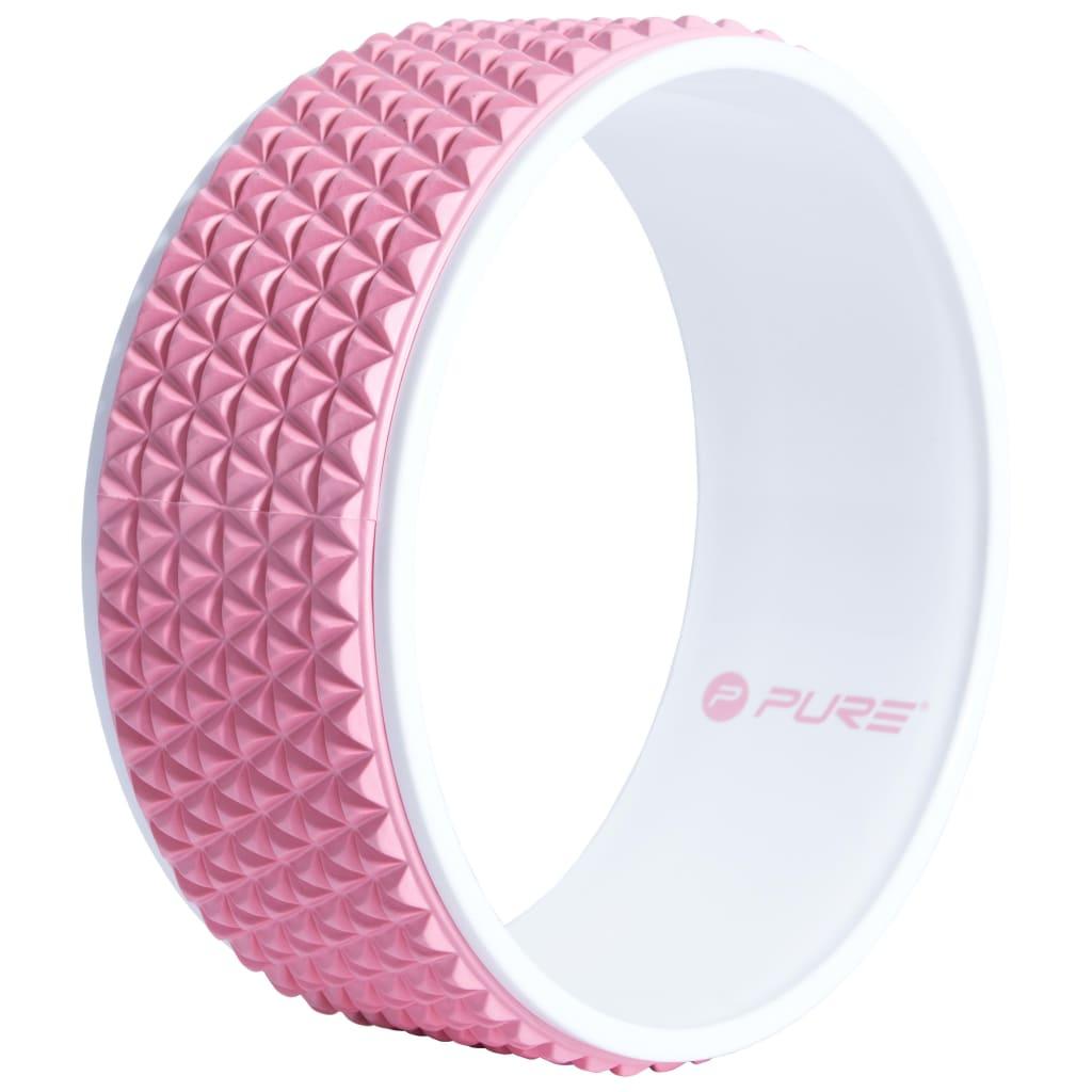 Колесо для йоги Pure2Improve, 34 см, розово-белое