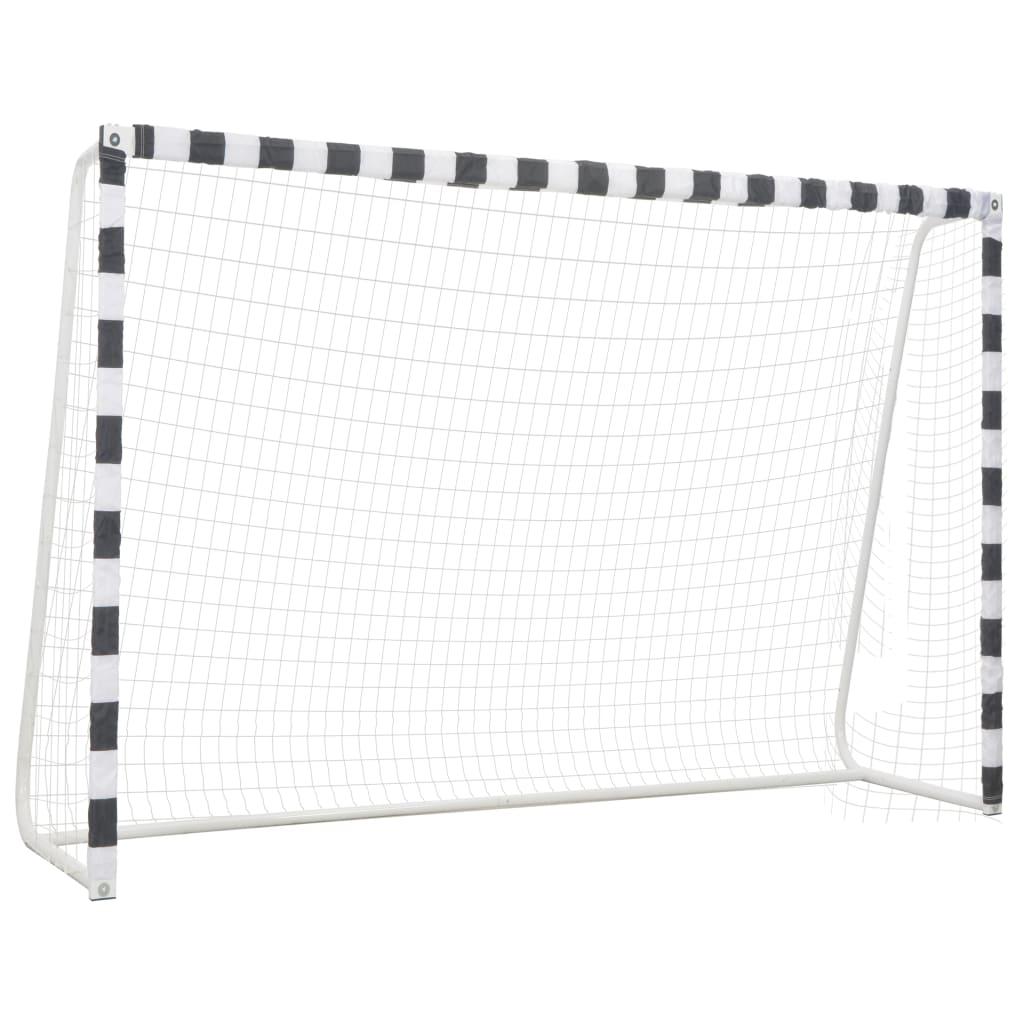 Футбольные ворота 300x200x90 см, металл, черный и белый