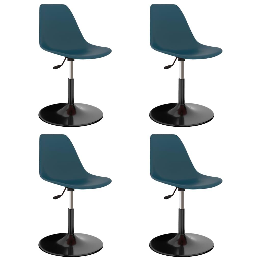 Chaises de salle à manger pivotantes 4 pcs turquoise PP