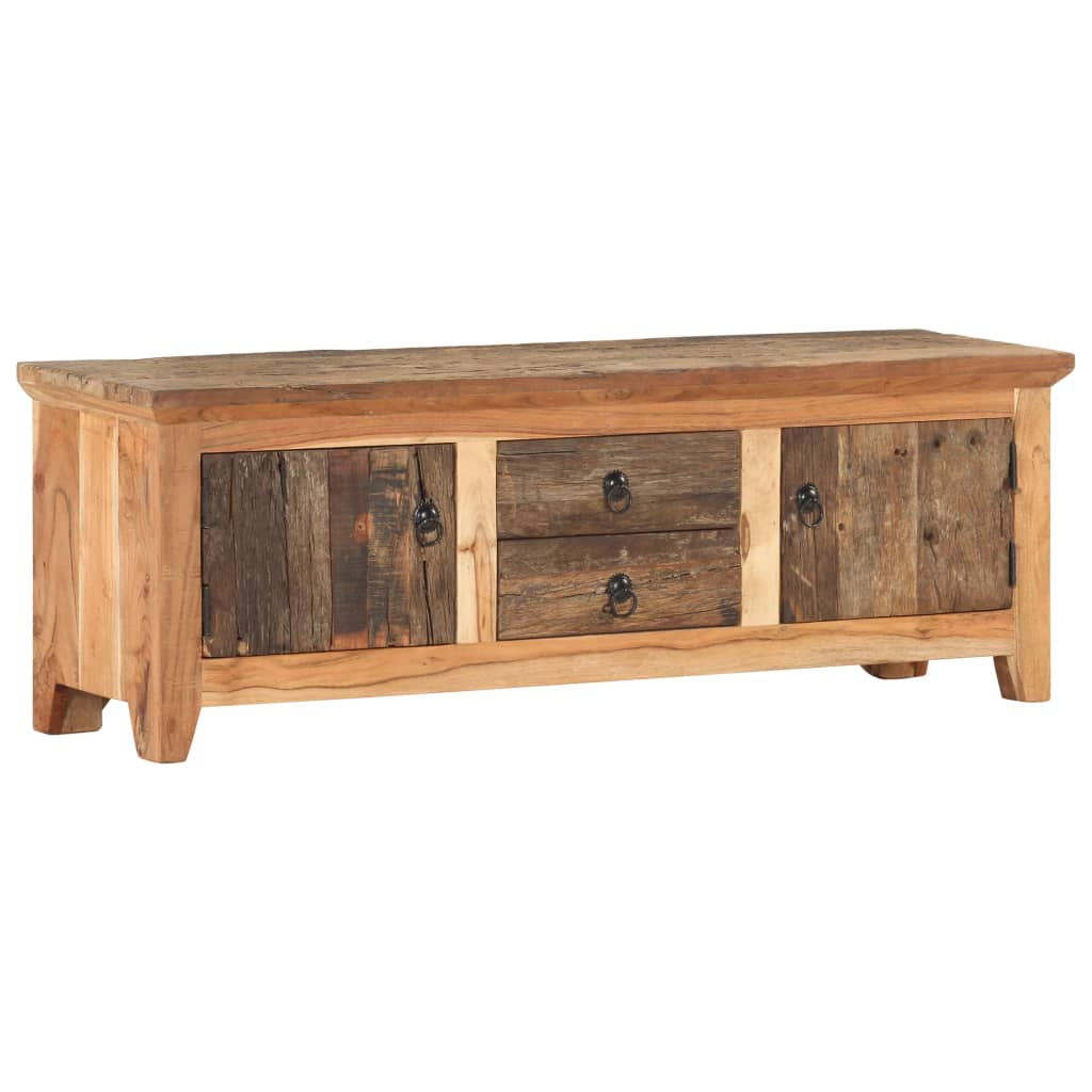 Meuble TV 120x30x40 cm Bois d'acacia massif et bois de récupération