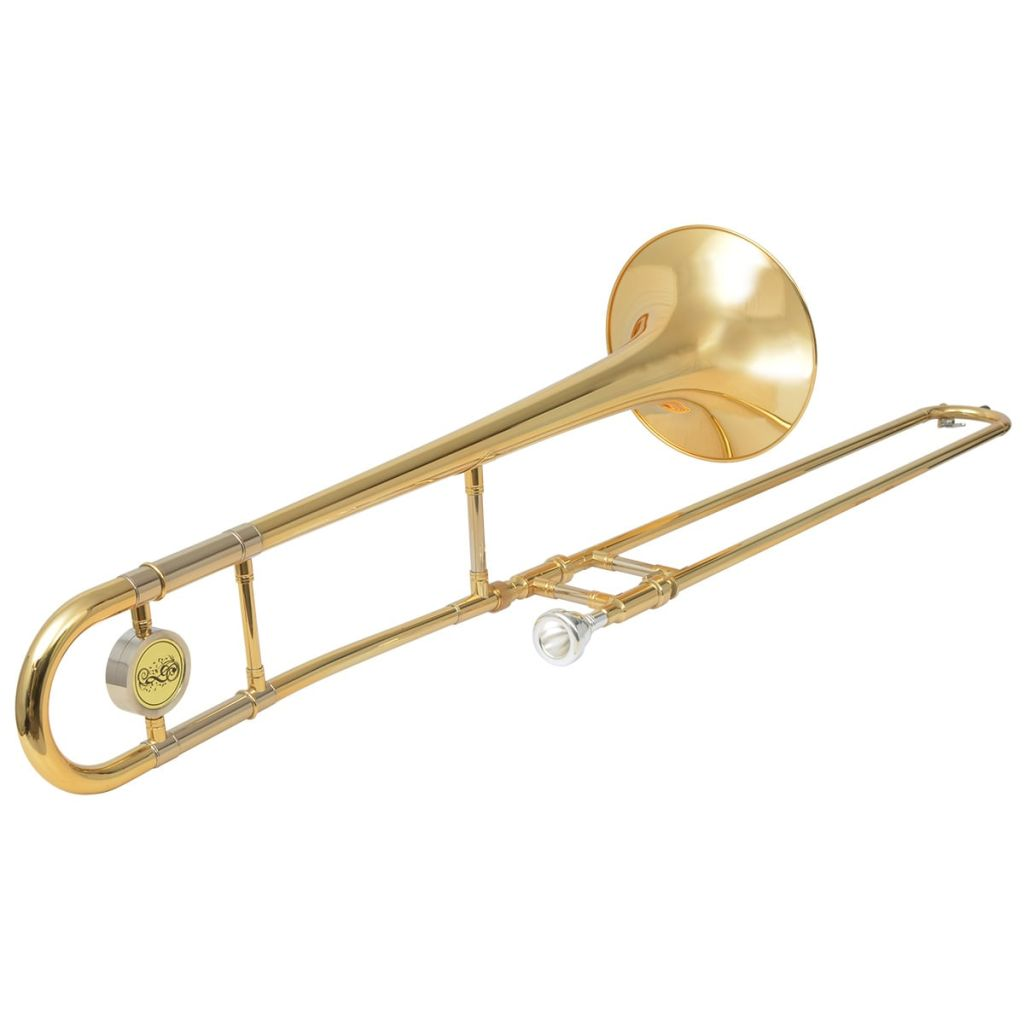 Trombone Laiton Jaune avec Laque Or Sib