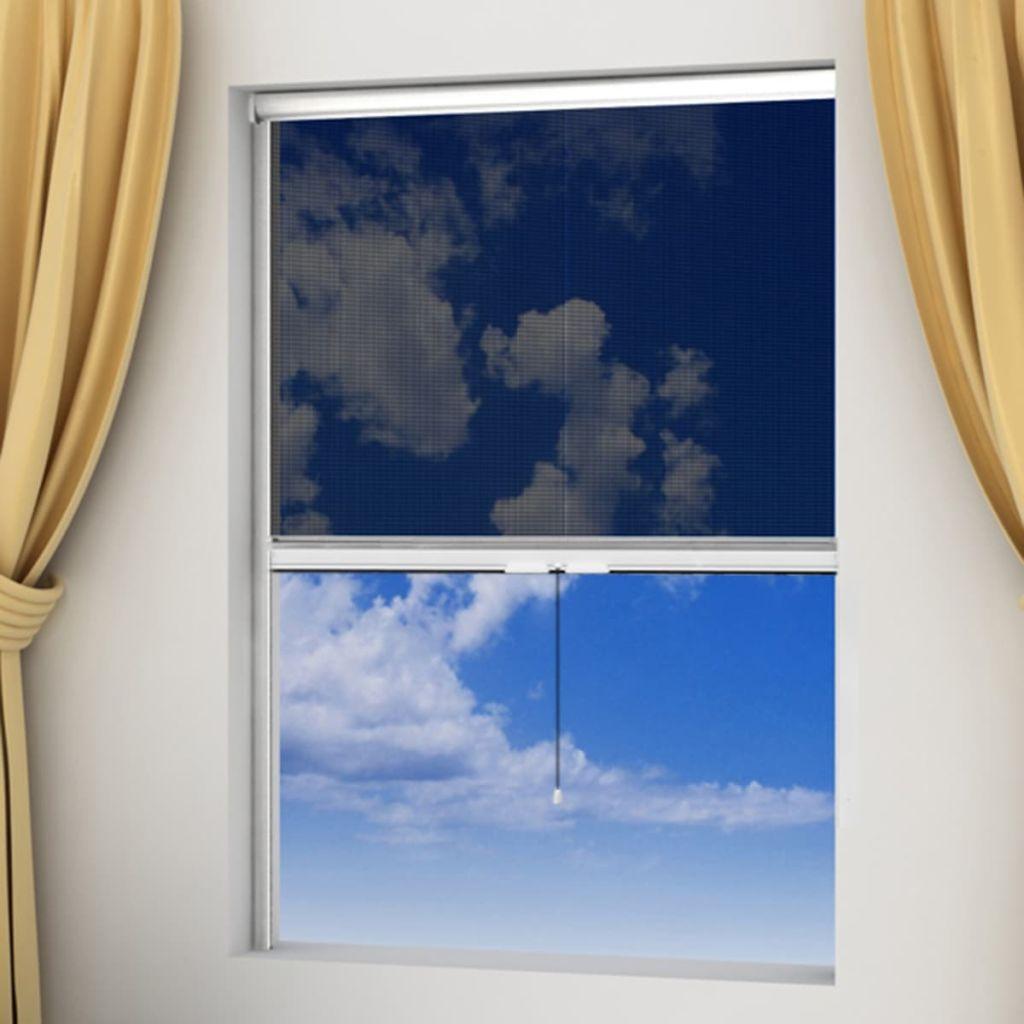 Windows 120 x 170cm用の白いロールダウン昆虫スクリーン