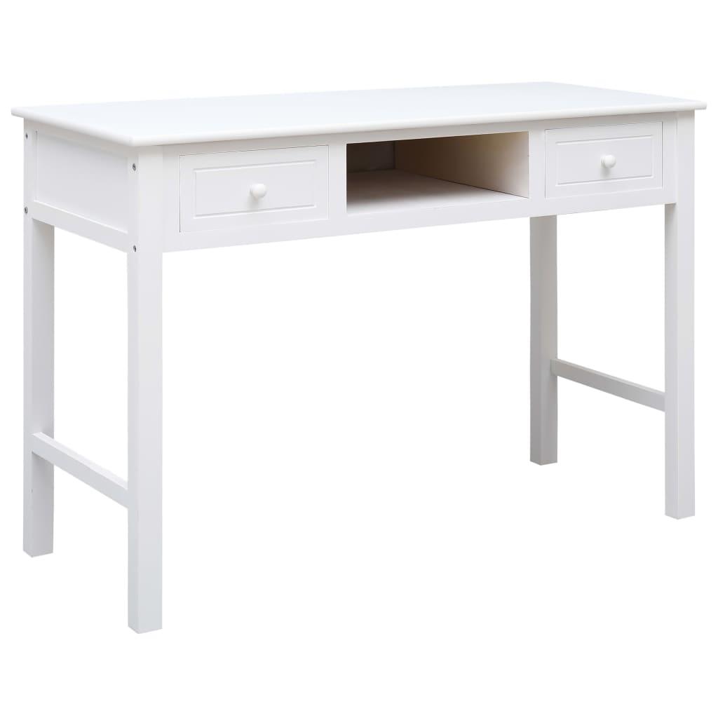 Γραφείο Λευκό 110x45x76 cm Ξύλο